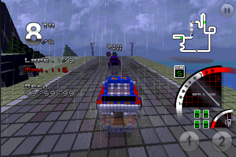 Screenshot 3D Pixel Racing Lite